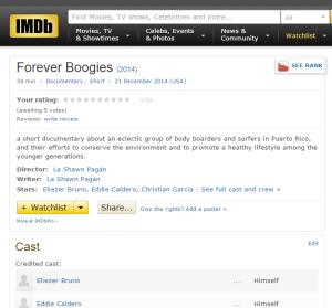 OMG I'm on IMDb!