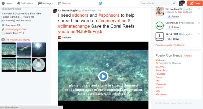 honest Tweet seeking funding and sponsors